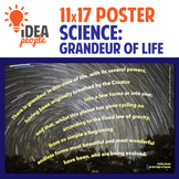 "Poster - Darwin: Grandeur of Life 11x17"" Printable - stars, science, quote"