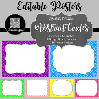 blank poster templates 11x8 5 essentials abstract circles11x8 5
