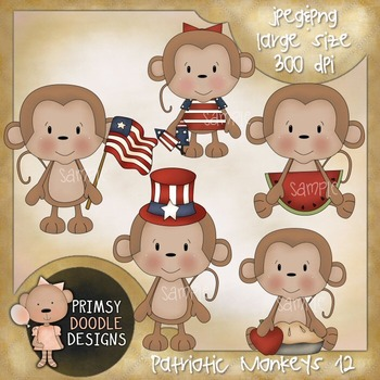 12-4th of July Monkeys