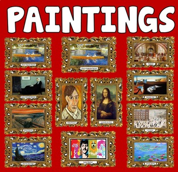 12 ART FRAMED PAINTINGS POSTERS KEY STAGE 1-4 DISPLAY EYFS CD FAMOUS ARTISTS