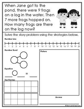 12 Addition and Subtraction Word Problems within 20 by ...