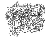 12 Affirmations, Coloring Pages, HandOuts, Posters, Easy t