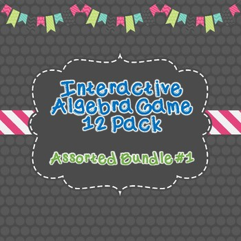12 Algebra Interactive Games Bundle Pack #1