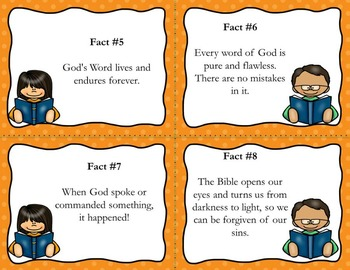 12 Amazing Facts About God's Word Scavenger Hunt