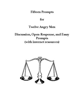 Apa Format Essay Example Paper  Angry Men  Prompts For Discussion Essays Or Openresponse Practice Essay In English also Essay Proposal Examples  Angry Men  Prompts For Discussion Essays Or Openresponse  High School Entrance Essays