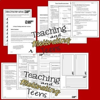 Twelve Angry Men Resources for Complete Unit