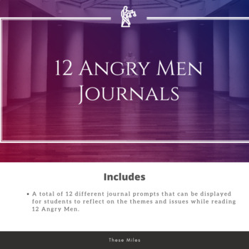 12 Angry Men Journals