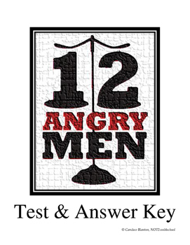 12 Angry Men (Jurors) Comprehension Test & Answer Key