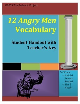 12 Angry Men Play Vocabulary