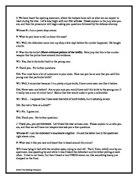 12 Angry Men Reader's Theater Simulation and Film Guide
