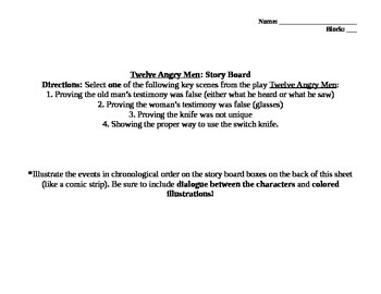 12 Angry Men Storyboard Project