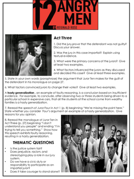 12 Angry Men Study Questions
