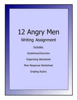 12 Angry Men Writing Assignment on Jurors' Votes/Changes