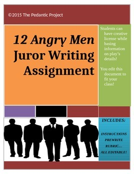 12 Angry Men Writing Assignment