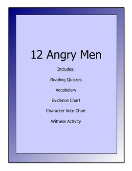 12 Angry Men packet - reading quizzes, vocab, activities
