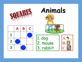 12 Animal Vocabulary Puzzles; Stations, Centers, Individua