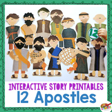 12 Apostles {New Testament Interactive Bible Storytelling Printables}