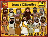 12 Apostles and Jesus: Bible Story Series by Charlotte's Clips