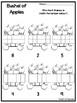 12 Apple 10 Frames Worksheets.Preschool-1st Grade Mental Math.