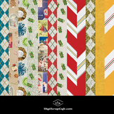 12 Assorted Christmas Papers