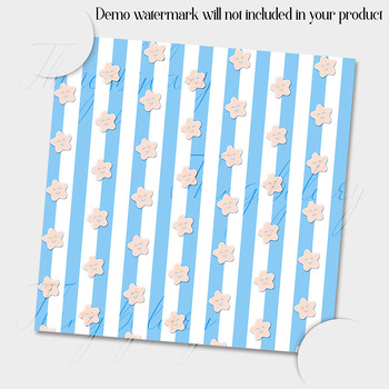 12 Baby Blue and Cream Baby Boy Shower Digital Papers