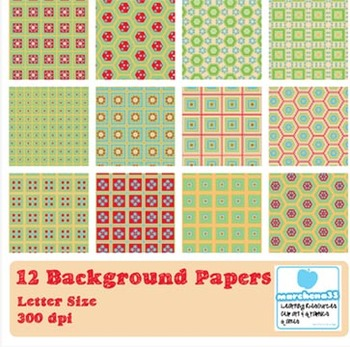 12 Background Papers - Commercial Use OK - Free Preview Page