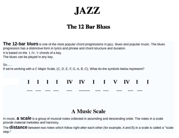 12 Bar Blues Explanation (As well as scale and chord review)