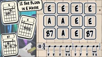12 Bar Blues Guitar Lesson - The Key of E Major