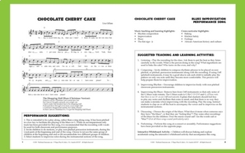 """12-Bar Blues/Orff Improv   """"Chocolate Cherry Cake""""   Complete Song Package"""