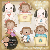 12-Bedtime Monkeys 300 dpi Clipart
