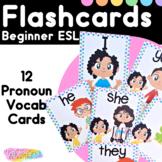 Beginner English Subject & Demonstrative Pronouns Flashcards for ESL Students