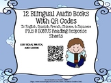Spanish AudioBooks With QR Codes with (4 Reading Response Pages)