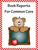 12 Book Reports to Teach Common Core Standards in Kindergarten