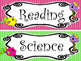 12 Bright Birdies themed Printable Classroom Subject Signs