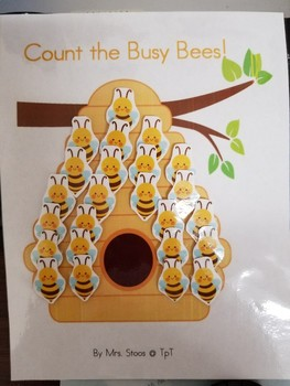 12 Busy Bumble Bees Interactive Book plus activity!