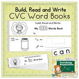12 CVC Word Families ~*Build Read & Write*~ Booklets | Literacy Center Activity