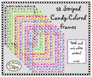 12 Candy-Colored Striped Frames
