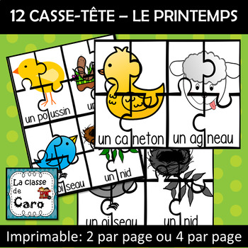12 Casse-têtes - LE PRINTEMPS (FRENCH FSL)