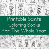 12 Catholic Saints Coloring Books for the Whole Year