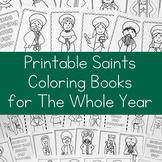 12 Catholic Saints Coloring Books for the Whole Year (Bundle)