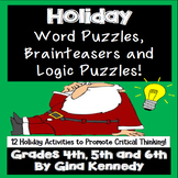 Holiday (Christmas) Word Puzzles, Brain Teasers, and Logic