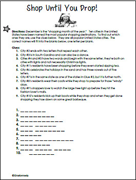 Christmas Logic Puzzles, Word Puzzles, Brain Teasers and Number Problems