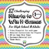 12 Challenging Minute to Win It Games for High School and Adults