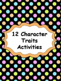 12 Character Traits Activities