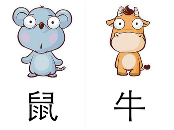 graphic about Chinese Flash Cards Printable identified as 12 Chinese Zodiac Flash playing cards (printable) 十二生肖图卡(简体)