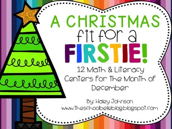 12 Christmas Math and Literacy Center Activities for December