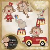 12-Circus Monkeys 300 dpi Clipart