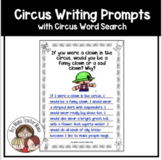 Circus Writing Prompts with Circus Word Search