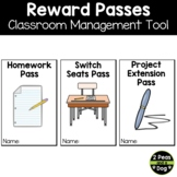 Reward Coupons, Reward Passes for Classroom Management