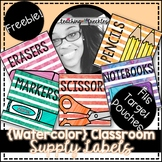 12 Classroom Supply Labels | Watercolor | For Target Pouch